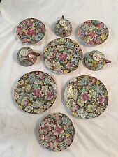 3 Antique Chinese Export Tea Cup And Plate Floral Design Signed