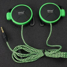 Stereo Headphone Earphone Ear Clips w/ Fabric Braided Cable for Sony, iPod New
