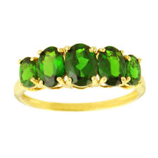 Chrome Diopside 2.05 Carat Genuine Gemstone Ring In 10 Kt Yellow Gold