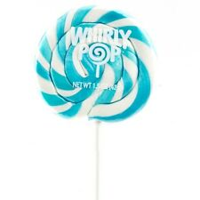 24 Large Light Blue Whirly Pops 1.5 Oz Candy Buffet Table Suckers Lollipops