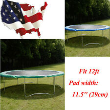 Safety Round Frame Spring Pad Cover Replacement for 12ft Trampoline Green/Blue