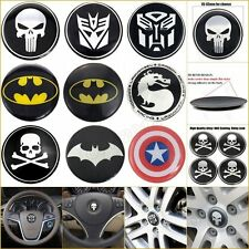 3D Metal Badge Emblem Logo Decal Stickers For Steering Tyre Wheel Center Hub Cap