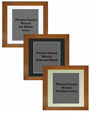 Picture Frame Handemade Square Wax Pine 55mm 3 Mount Options 18no Frame