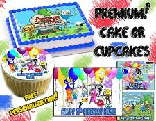 Edible Adventure time cake topper or cupcake tops image picture photo sticker