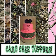 Camouflage edible Cake tops or side strips topper sugar sheets picture image