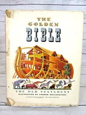 The Golden Bible Giant Golden Book Old Testament 1946 Childrens Book Hardcover
