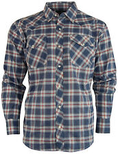 Men's Casual Country Snap-Front Western Plaid Shirt
