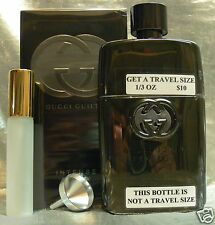 TRAVEL SIZE GUCCI GUILTY INTENSE POUR HOMME EAU DE TOILETTE 0.33 FL. OZ. 10 ML