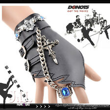 punk metal heavy rock anime sapphire captain boxing glove ring set【J1S8005】
