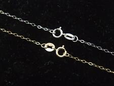 Real 10Kt Yellow Gold / White Gold Rhomboid Cable Chain Necklace all sizes