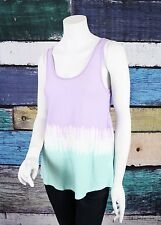 NEW PJ Salvage Purple Green Tie Dye Wrap Back Sleep Sleepwear Tank Top S M L NWT