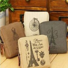 Gift Card Classic Retro Tower Case Eiffel Handbags Wallet Coin Purse Canvas