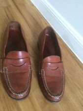 """COLE HAAN """"Genuine Handsewn"""" Brown Leather Penny Loafers Mens 12M Brazil-made"""
