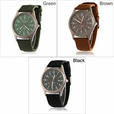 Men's Military Watch Army Infantry Sport Quartz Date Luminous Wrist Nylon Strap