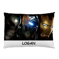 Personalised Ironman Large Decorative Pillowcases Gifts Kids