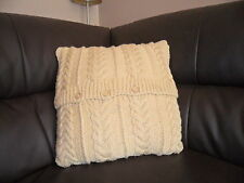 """18""""  Hand Knitted Cushion Cover (pad not included)"""