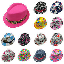 WOW New Toddler Kid Baby Fedora Hat Jazz Cap Photography Cotton Trilby Top Cap