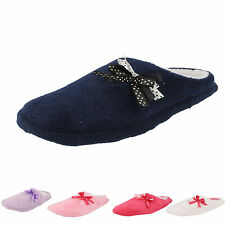 LADIES MULE SLIPPERS WITH MEMORY FOAM IN FUCHSIA,PINK,LILAC,NAVY AND WHITE