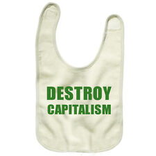 Banksy Destroy Capatalism Baby Bib Reversible Printed one side Political TS399