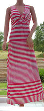 Womens Brand New tg Yourstyle Twist Front Pink Stripe Maxi Dress Size 12 or 14
