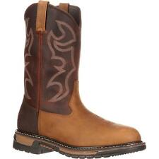 """Rocky 6732 Original Ride 11"""" Branson Steel Toe Pull On EH Rated Western Boots"""