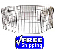 Portable Dog Pet Playpen Kennel Wire Heavy Duty Fence Exercise Folds 5 Sizes