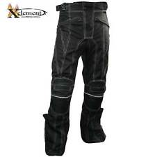 Xelement Black Tri-Tex White Stitched Fabric Motorcycle Pants
