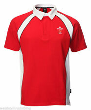 Mens Official Licensed WRU Wales Welsh Rugby Short Sleeve Rugby Jersey