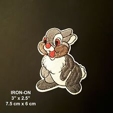 Gray Rabbit Easter Bunny Cartoon Character Embroidered Iron On Applique Patch