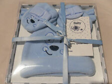 3 piece boxed baby gift set - Hat, mittens, bootees - pink / blue / cream BNWT