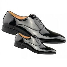 Boys Mens New Black Lace Up Patent Smart Formal Wedding Suit Office Shoes