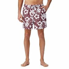 Maine New England Mens Big And Tall Red Floral Print Swim Shorts From Debenhams