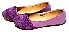 Kids Shoes Girls Ballet Faux Suede Crochet Flats Slip On Ballerina Loafer Casual