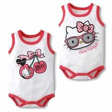 Baby Infant Kitty Clothes Girls Singlet Summer Birthday Cute Romper Size 00 0 1