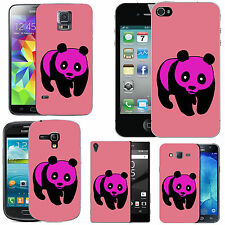 gel case cover for many mobiles - blush panda silicone