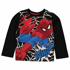 Boys Character Long Sleeve T-Shirt Spiderman New With Tags