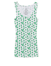 St Patricks Day Womens Essential Rib Tank S M L XL XXL Shamrocks TShirt