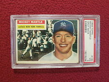 1956 TOPPS #135 MICKEY MANTLE PSA 3 VG GRAY BACK NEW YORK YANKEES