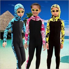 Boys Girls Diving Suits Children's Hooded Wetsuit Long Sleeve Swimming Surfing