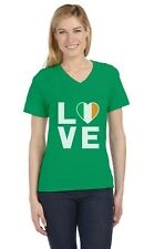 I Love Ireland - Irish Pride Flag of Ireland Gift Idea V-Neck Women T-Shirt Gift