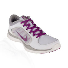 Nike - Flex Trainer 4 Womens Training Shoe - White/Silver/Bright Grape