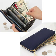 Genuine leather Women wallet Lady purse Card Long Clutch Bag Handbag Cow Leath