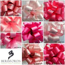 DOUBLE SATIN RIBBON SHADES OF PINK 9 SHADES, 6 WIDTHS 3 LENGTHS