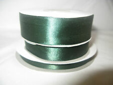 Hunter green double sided satin ribbon 3 10 16  25mm crafts cards wedding