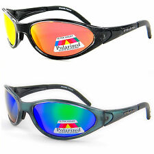 Dark Sunglasses UV400 POLARIZED Mirror Biker Fishing Sports Wrap Around (Action)