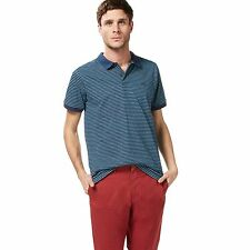 Racing Green Mens Navy And Turquoise Striped Polo Shirt From Debenhams