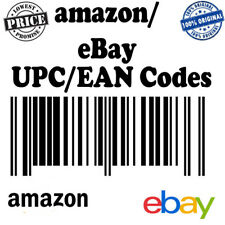 EAN 13 Numbers Barcodes UPC EAN Bar Codes for Amazon Ebay Email Fast Delivery