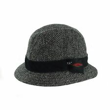 Gents Authentic Harris Tweed Trilby Hat With Moleskin Band GH0361
