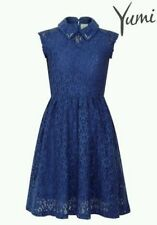 Ex Debenhams YUMI GIRL SKATER LACE DRESS rrp-£38 two colours various sizes BNWT