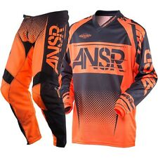 NEW 2018 ANSWER RACING SYNCRON PANT JERSEY GEAR COMBO ORANGE BLACK + FREE NAME